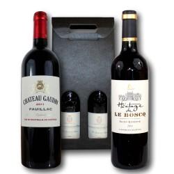 Coffret Cadeau Grands cru de Bordeaux - Saint-Estèphe & Pauillac