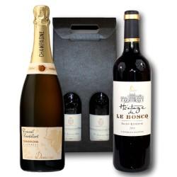 Coffret Cadeau Saint-Estèphe et Champagne