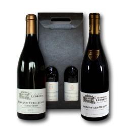 Coffret Cadeau Bourgogne rouge : Pernand-Vergelesses et Savigny-les-Beaune LEBREUIL