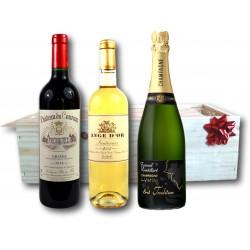 Coffret Cadeau Vin Rouge, Sauternes et Champagne