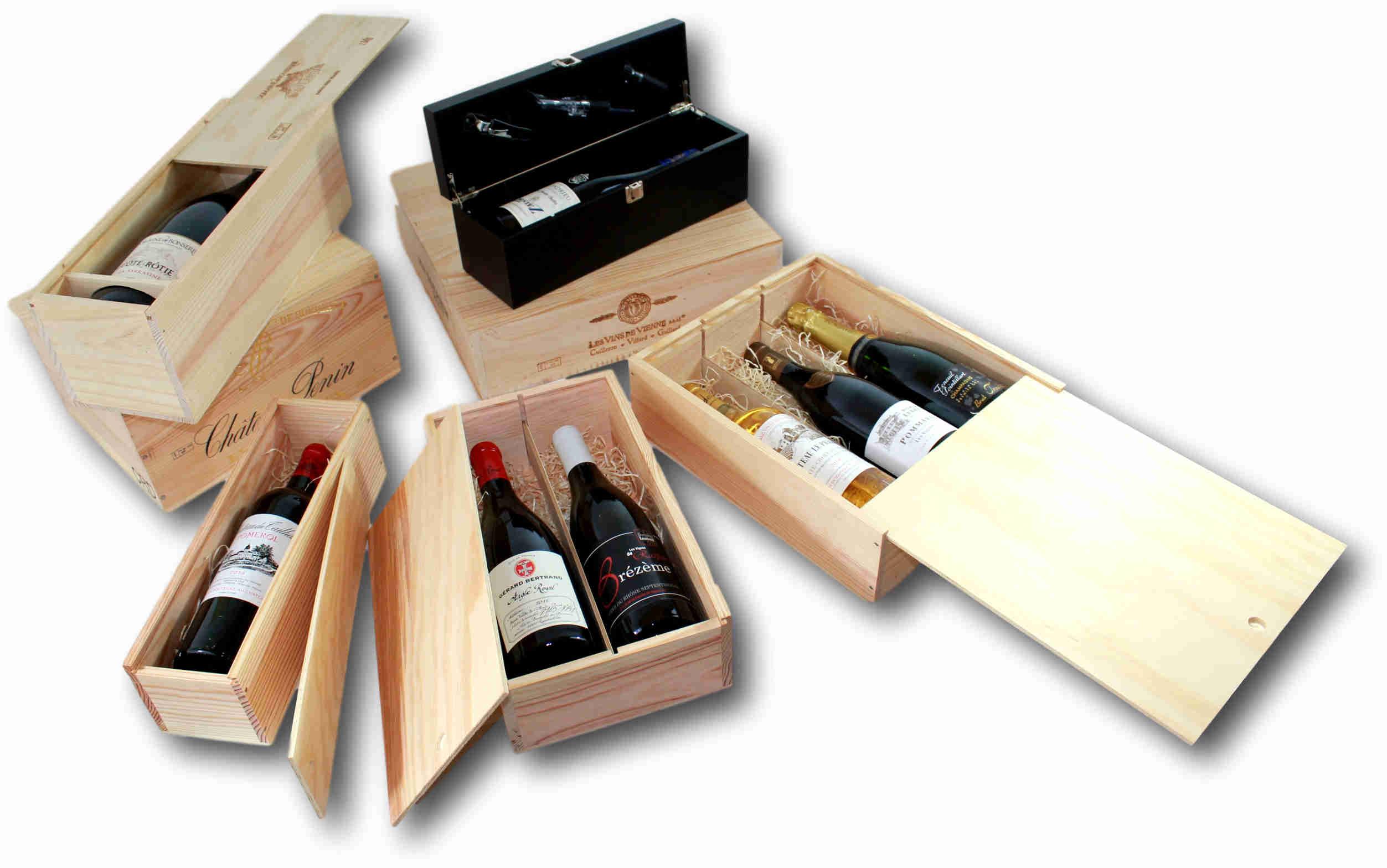 Tous les coffrets cadeaux de vin VINSOLITE en bois