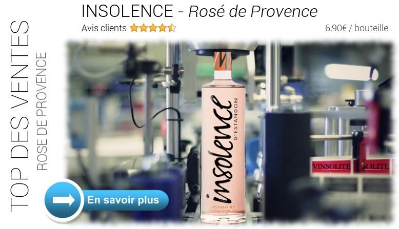 Top des ventes : Insolence Rosé