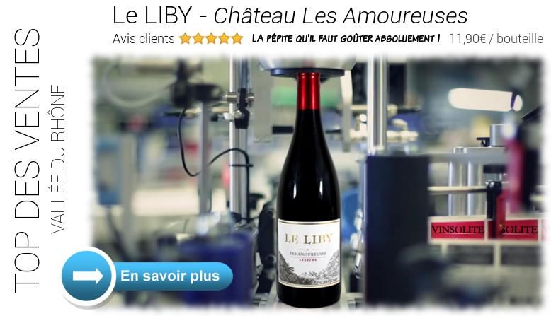 Top des ventes : Le Liby 2015 du domaine LES AMOUREUSES