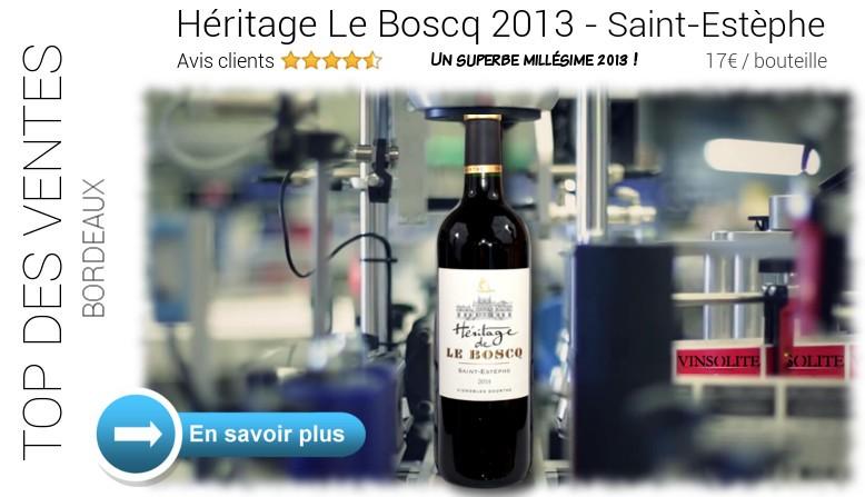 Saint-estèphe - Héritage de Le Boscq 2013